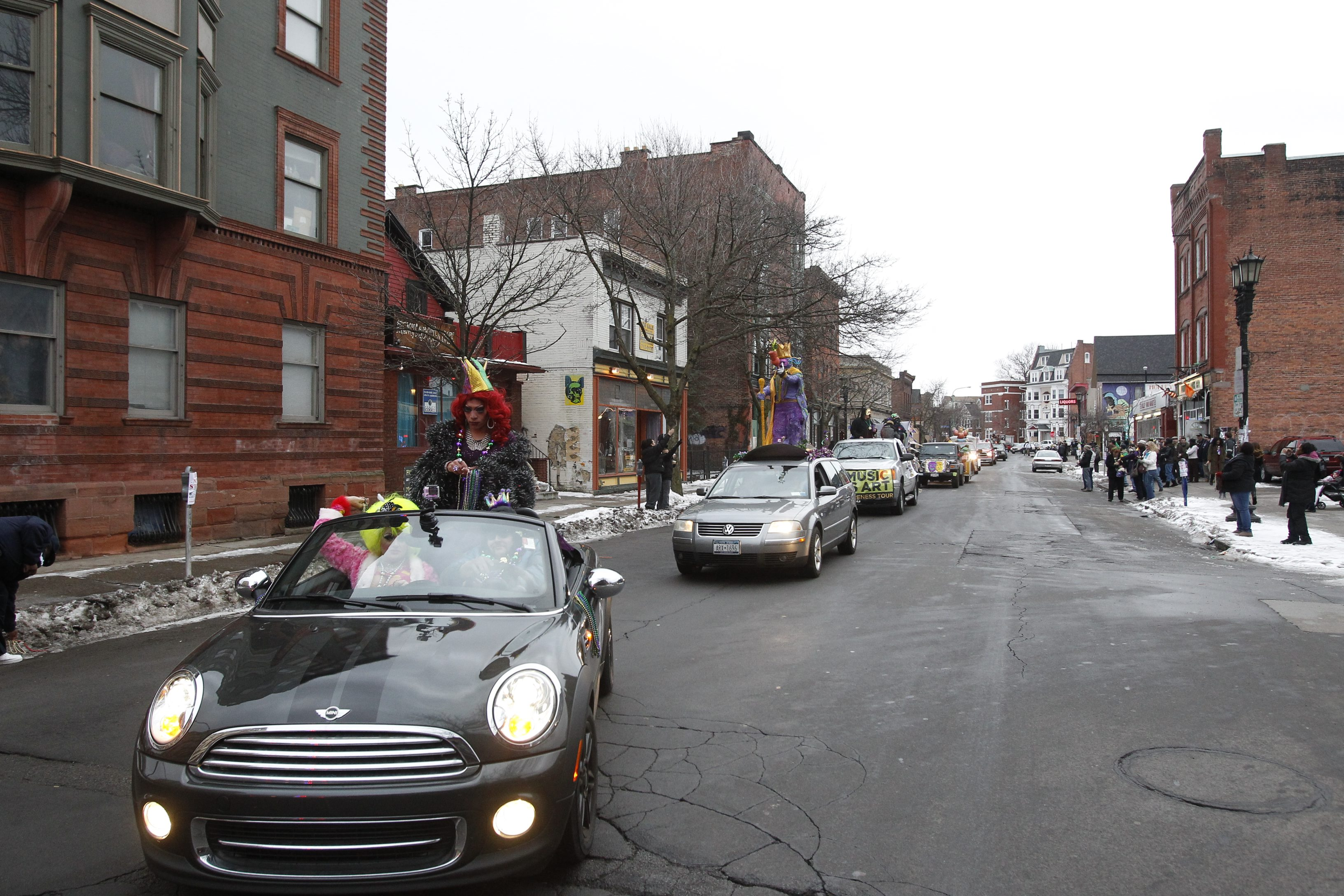 Cars drive down Allen Street in Buffalo in this file photo from 2013. (Harry Scull. / Buffalo News)