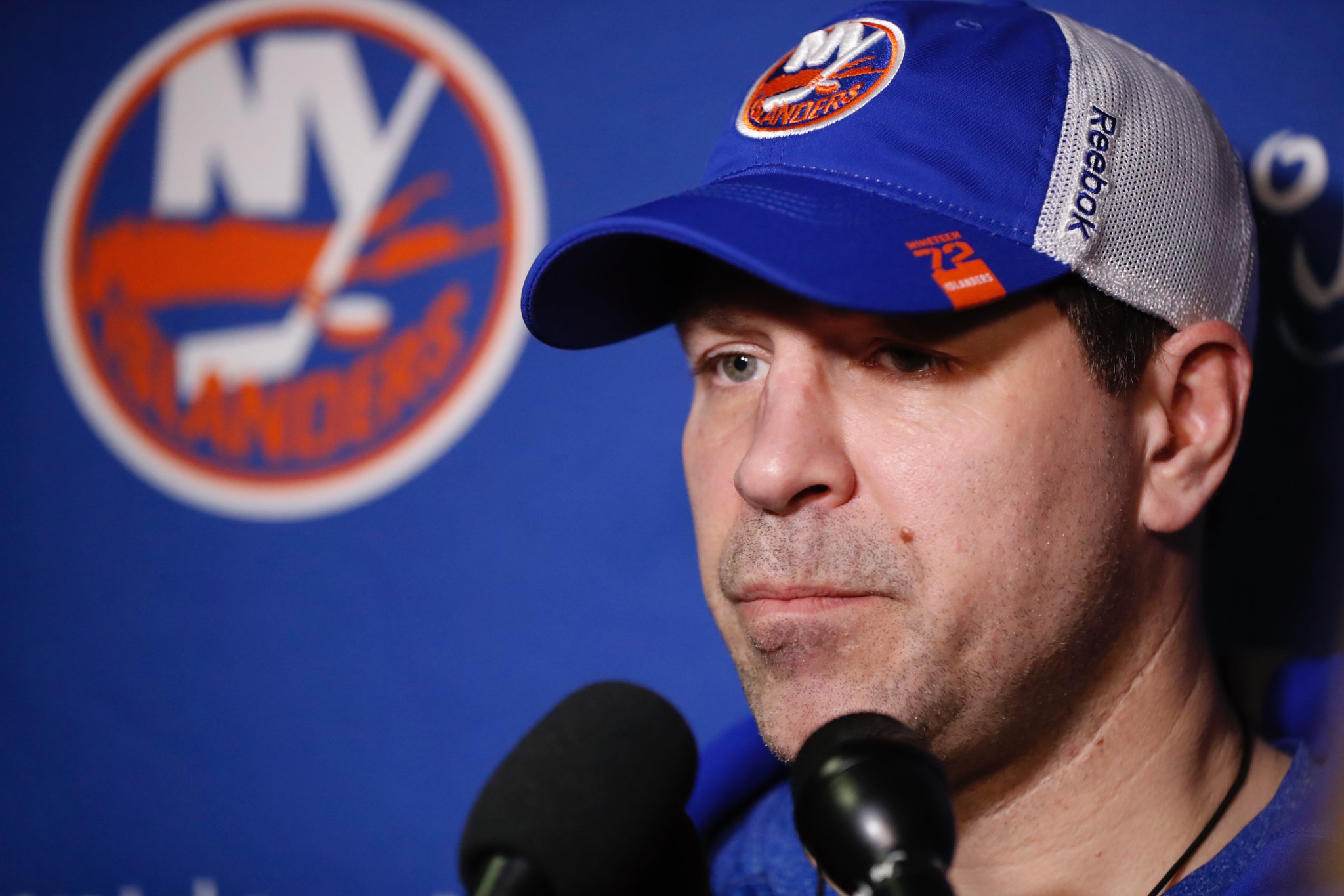 Doug Weight entered Sunday 19-12-4 since taking over the Islanders. (Harry Scull Jr./Buffalo News)