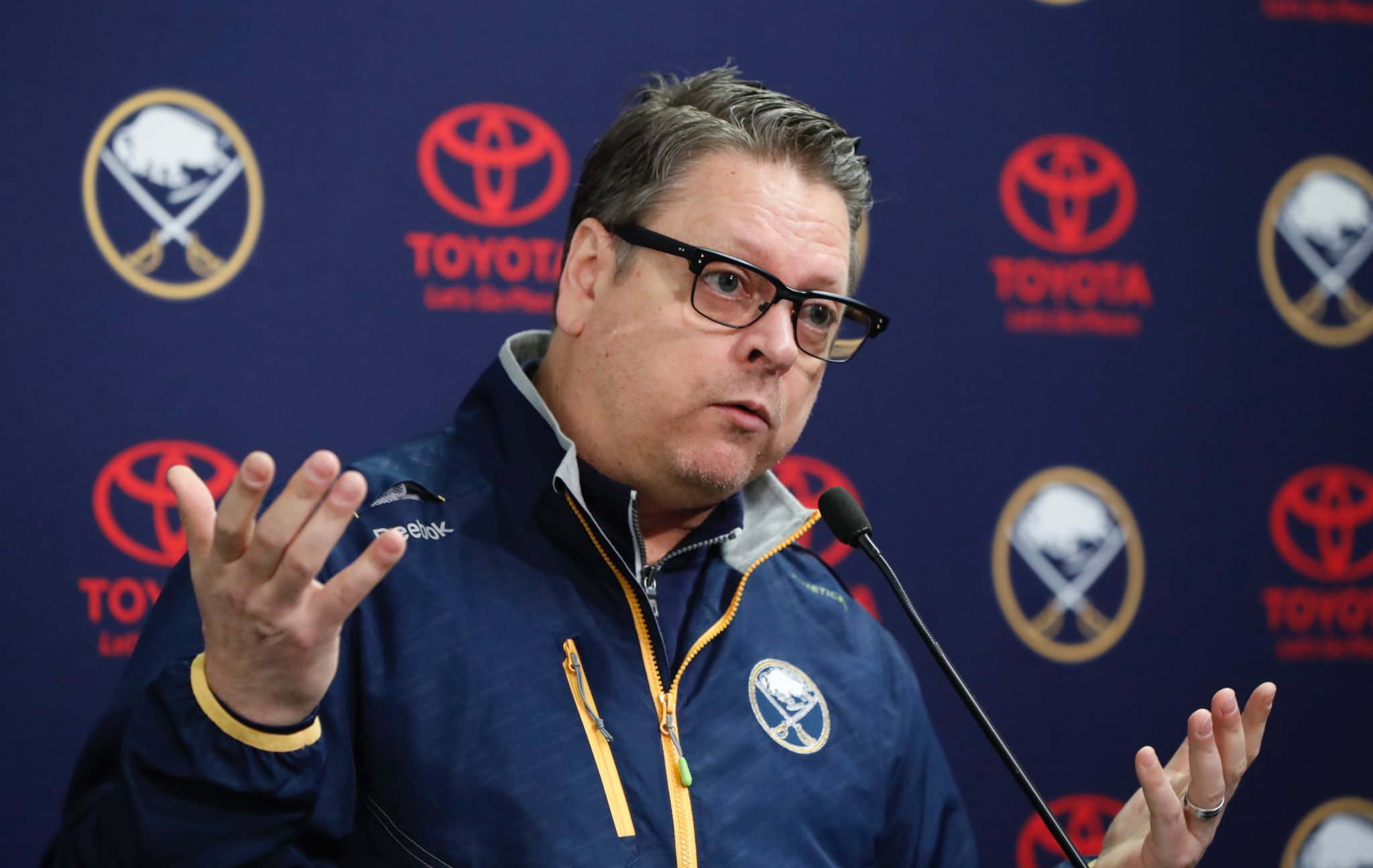 The Sabres' search to replace Tim Murray reaches from New York to Los Angeles. (Harry Scull Jr./Buffalo News)