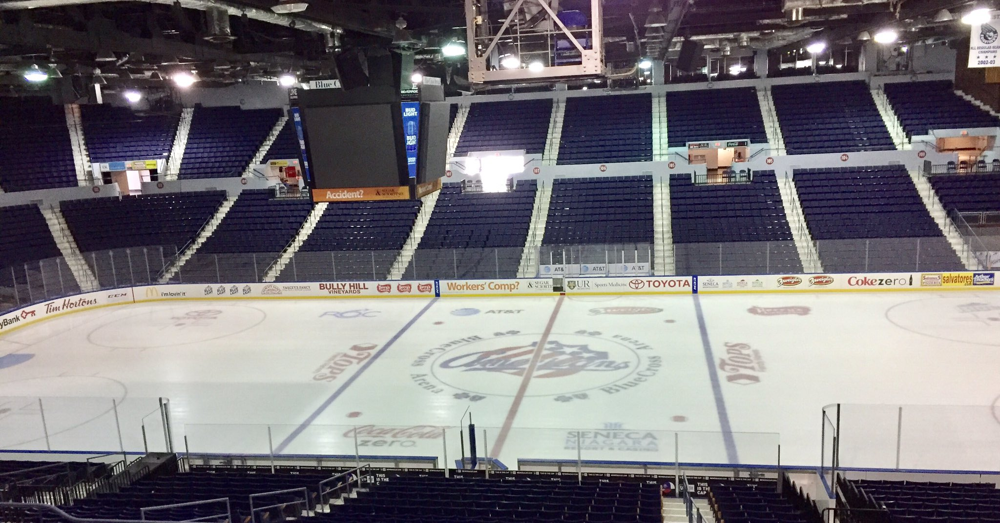 The Sabres want to join Rochester and New York State in making improvements to Blue Cross Arena. (John Vogl/Buffalo News)