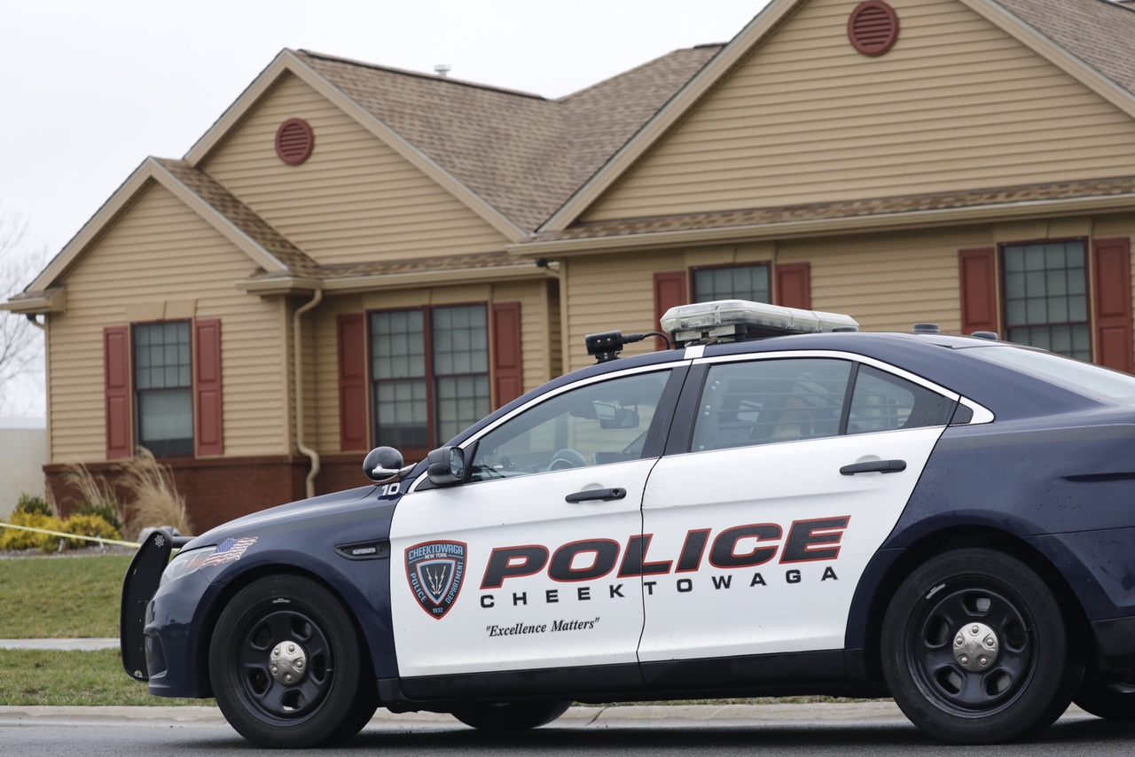 The home on Whitney Place in Cheektowaga where a son is accused of shooting his father to death. (Derek Gee/Buffalo News)
