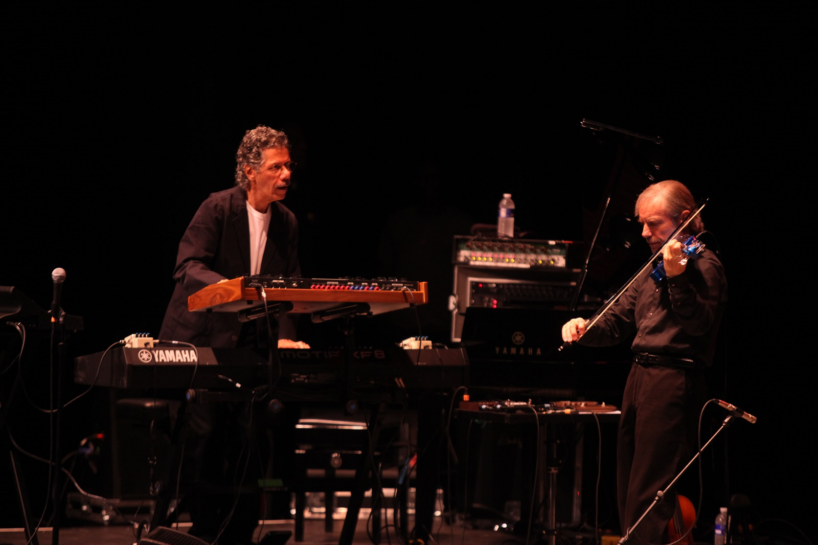 Keyboard wizard Chick Corea and violin virtuoso Jean Luc-Ponty perform at UB in 2011. (New file photo)