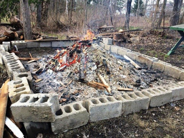 Construction debris was allegedly being illegally burned in Holland last week. (Department of Environmental Conservation)