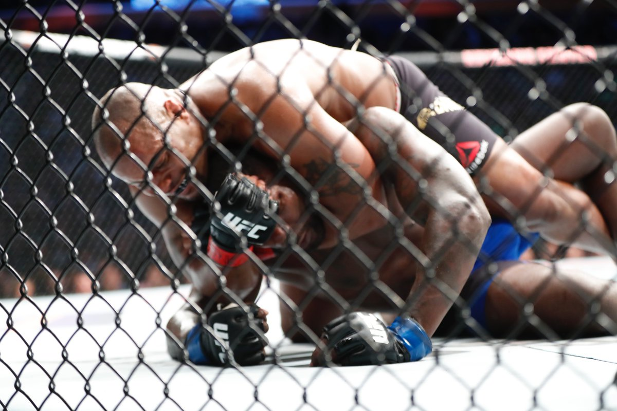 Daniel Cormier retained his light heavyweight championship belt with a defeat of Anthony Johnson in the main event of UFC 210 in Buffalo. (Harry Scull Jr./Buffalo News)