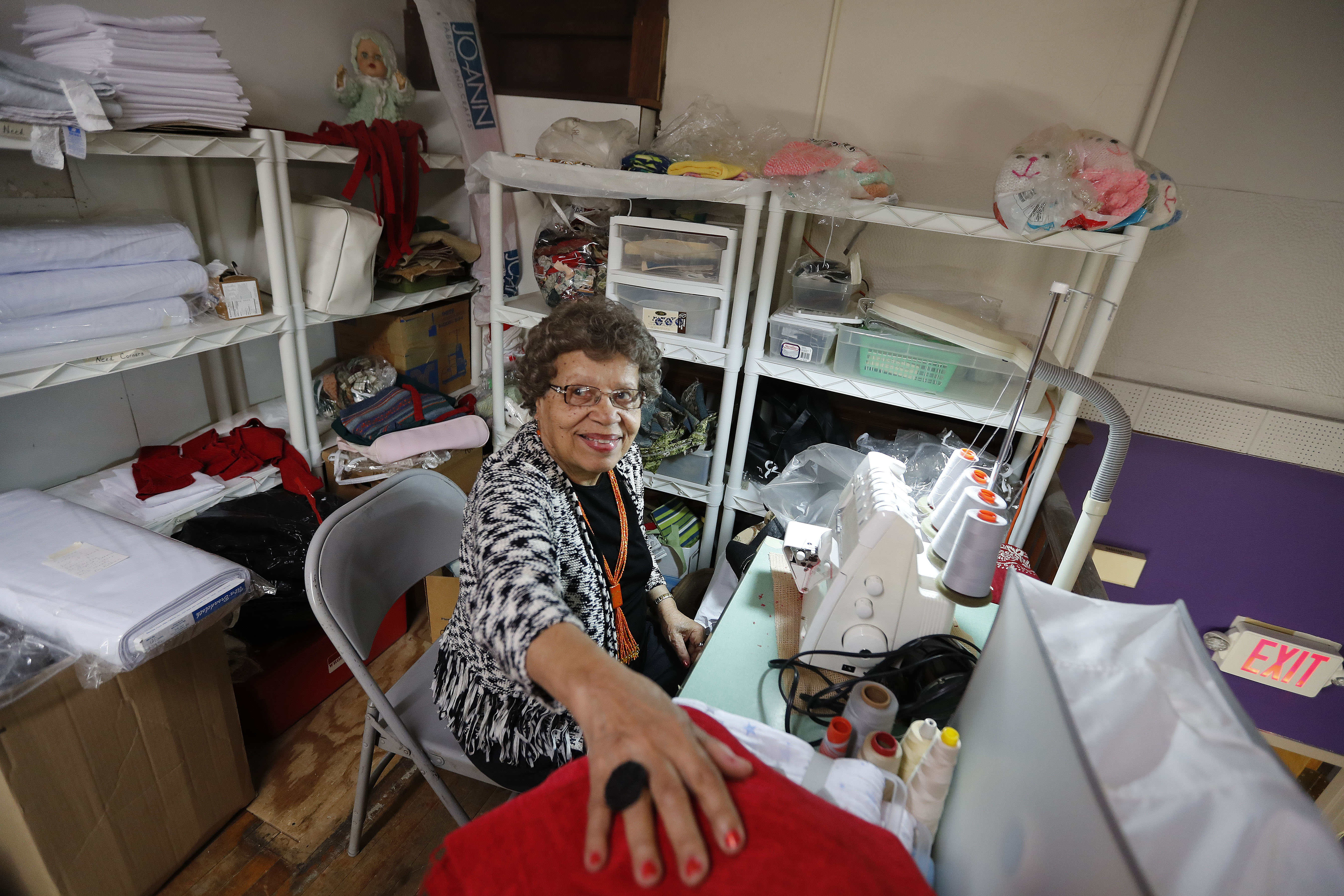 Daisy 'Estelle' Anderson of Buffalo, who has been volunteering for 20 years at Ladies of Charity, was named the 2017 national Catholic Charities volunteer of the year. (Mark Mulville/Buffalo News)