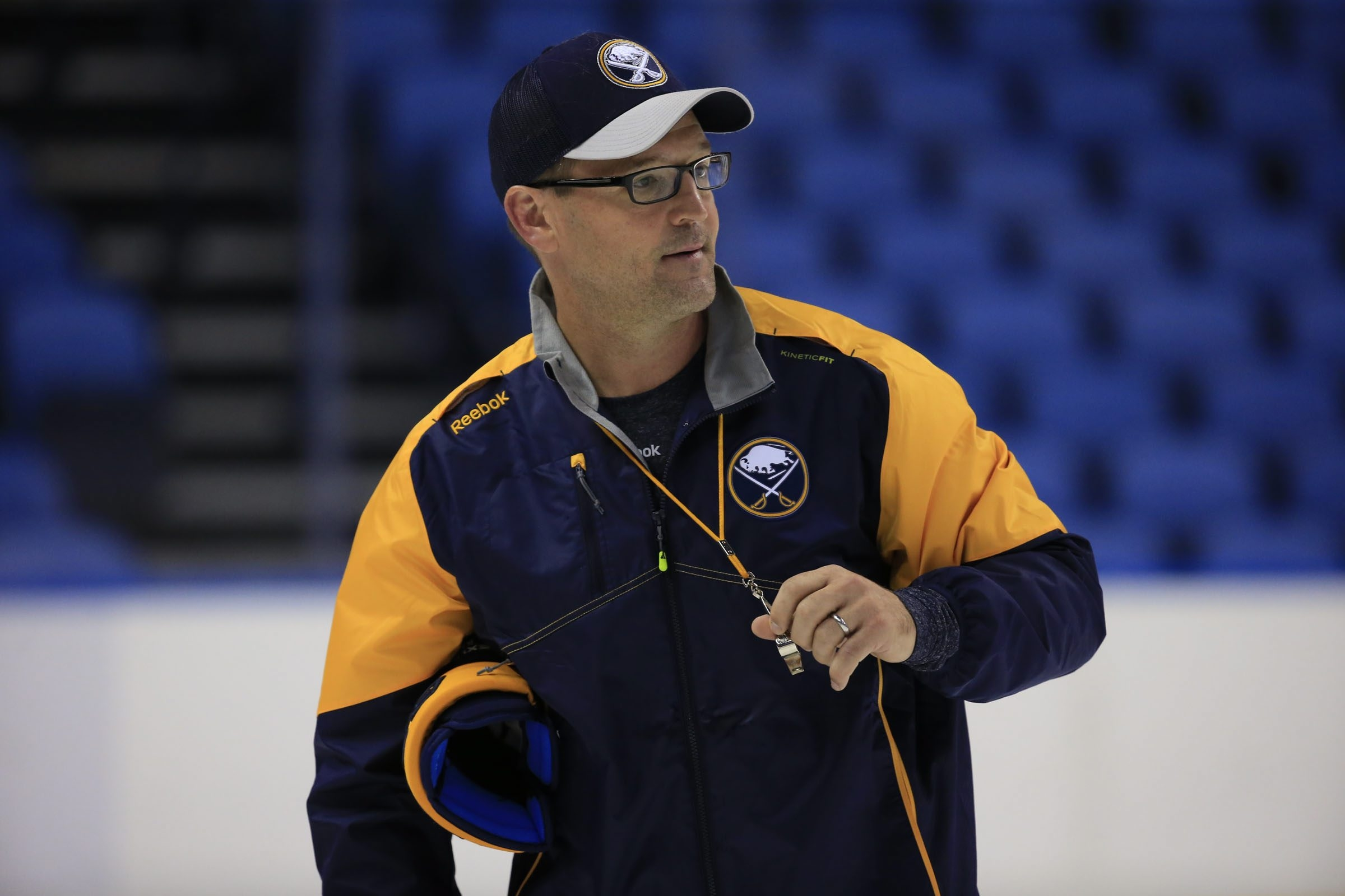 Dan Bylsma is wrapping up his second season as coach of the Sabres (Harry Scull Jr./Buffalo News).