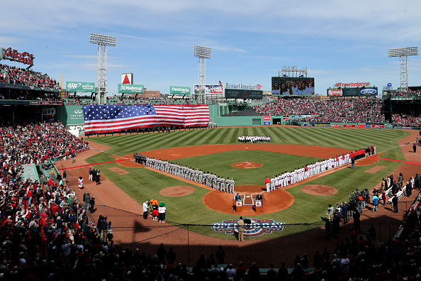 Fenway Park during the 2017 home opener between the Red Sox and Pirates (Getty Images)