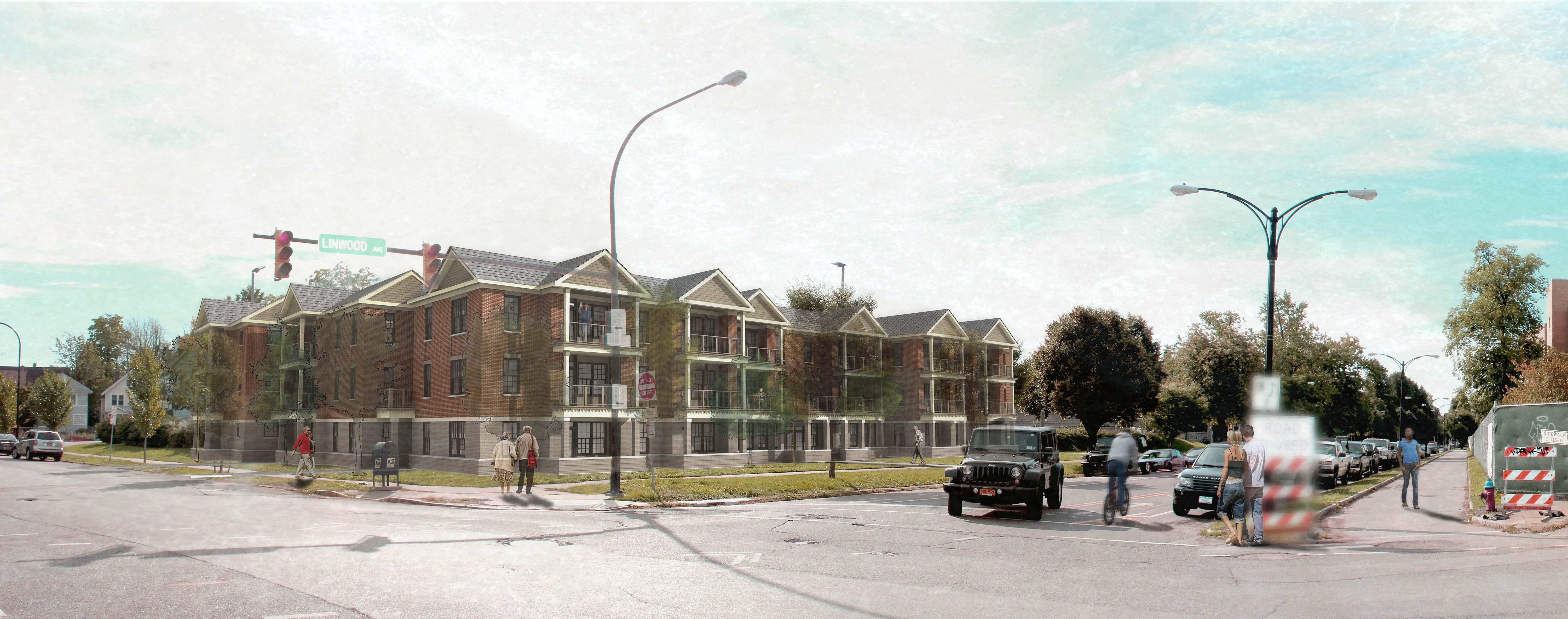 Rendering of People Inc. project at Gates Circle.