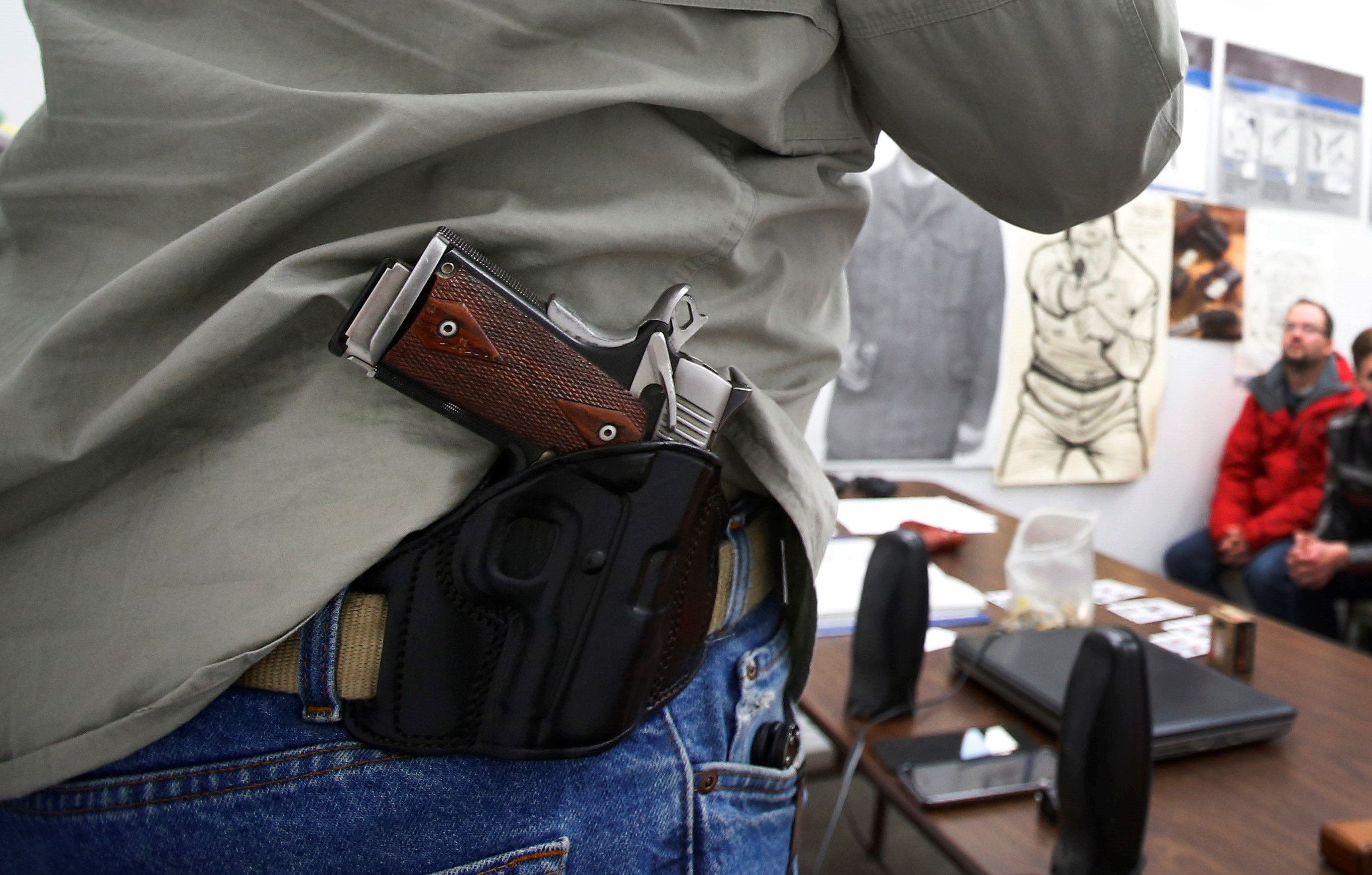 Republican lawmakers have introduced a bill that would allow people who have concealed-carry permits in their home states to take their weapons to other states. (Getty Images)