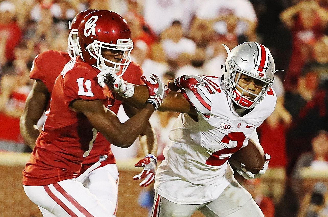 Marshon Lattimore (2) of  Ohio State tops what could be one of the deepest cornerback drafts ever. (Getty Images)
