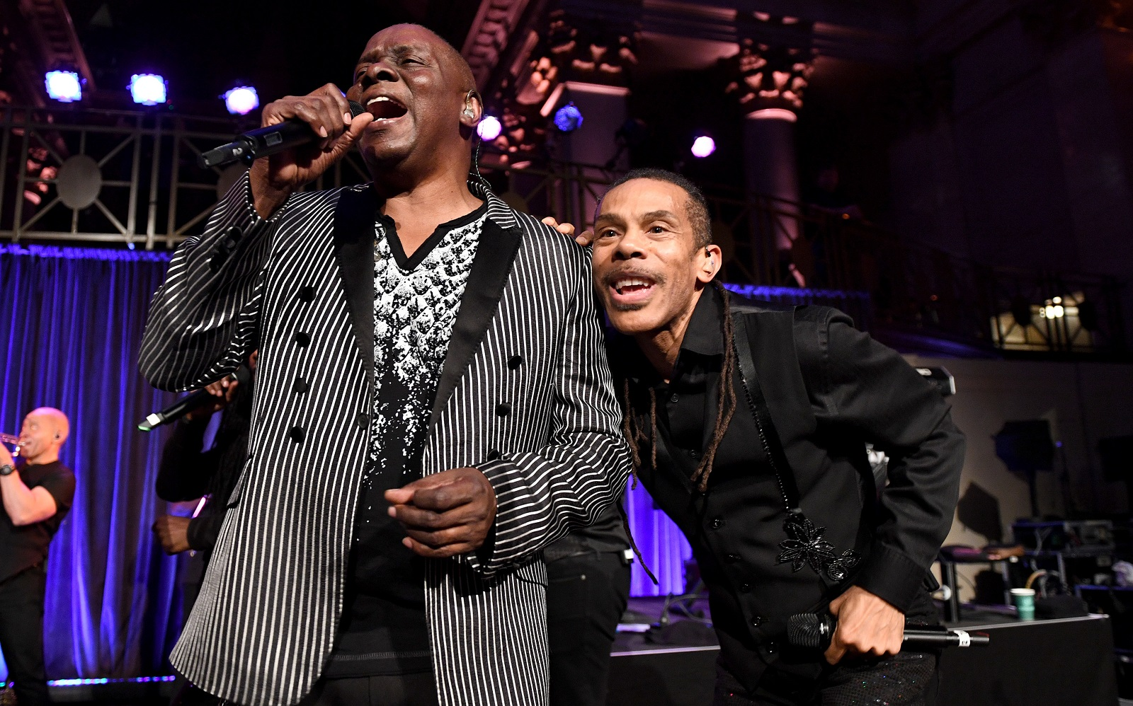 Philip Bailey, left, and his band Earth, Wind & Fire will perform in KeyBank Center this summer. (Getty Images)