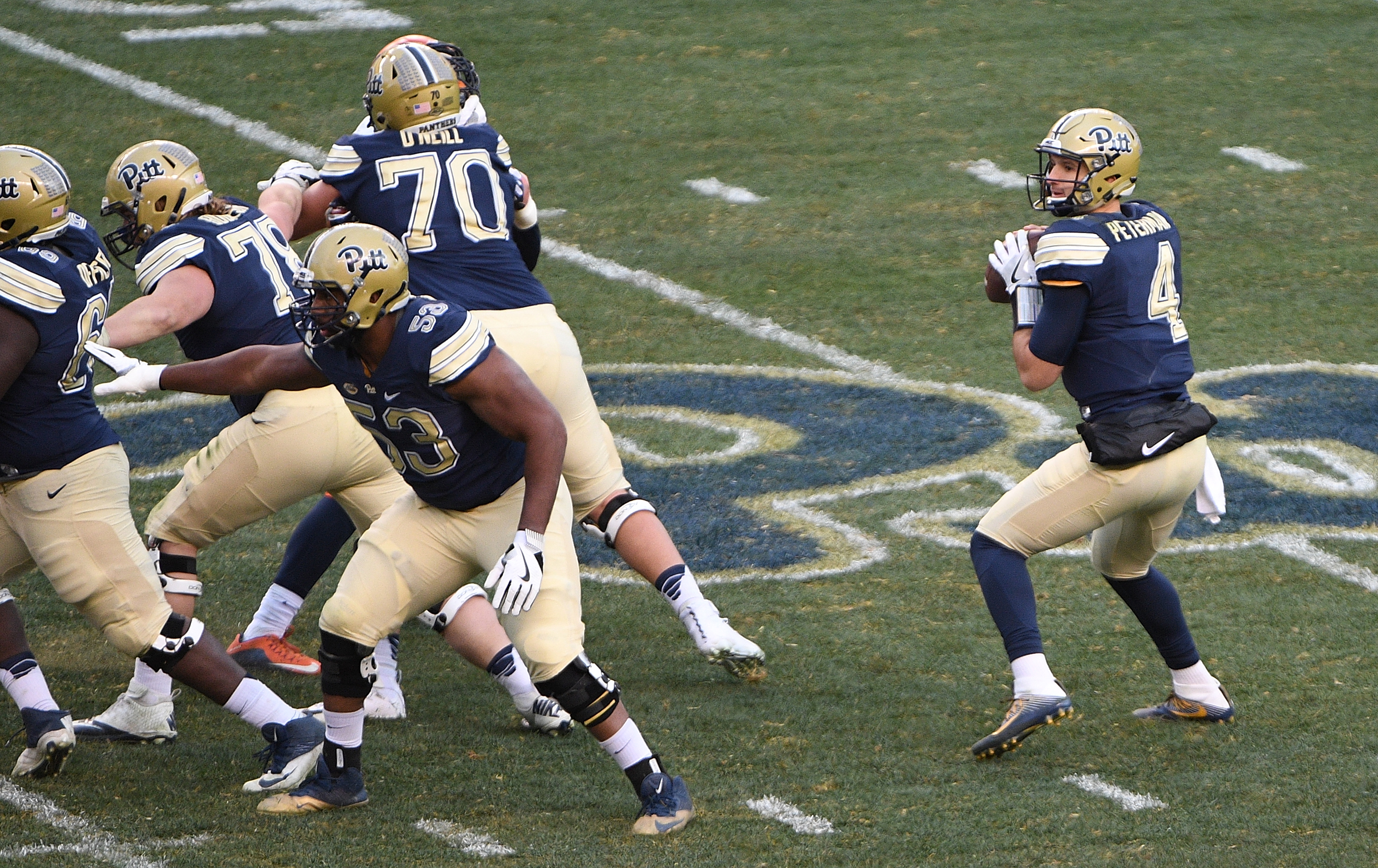 Pitt quarterback Nathan Peterman is one of the top players available on Day Three of the NFL Draft. (Getty Images)
