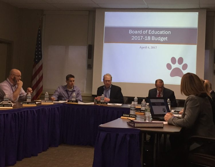Hamburg School Board members get ready for a budget update. (Barbara O'Brien/Buffalo News)