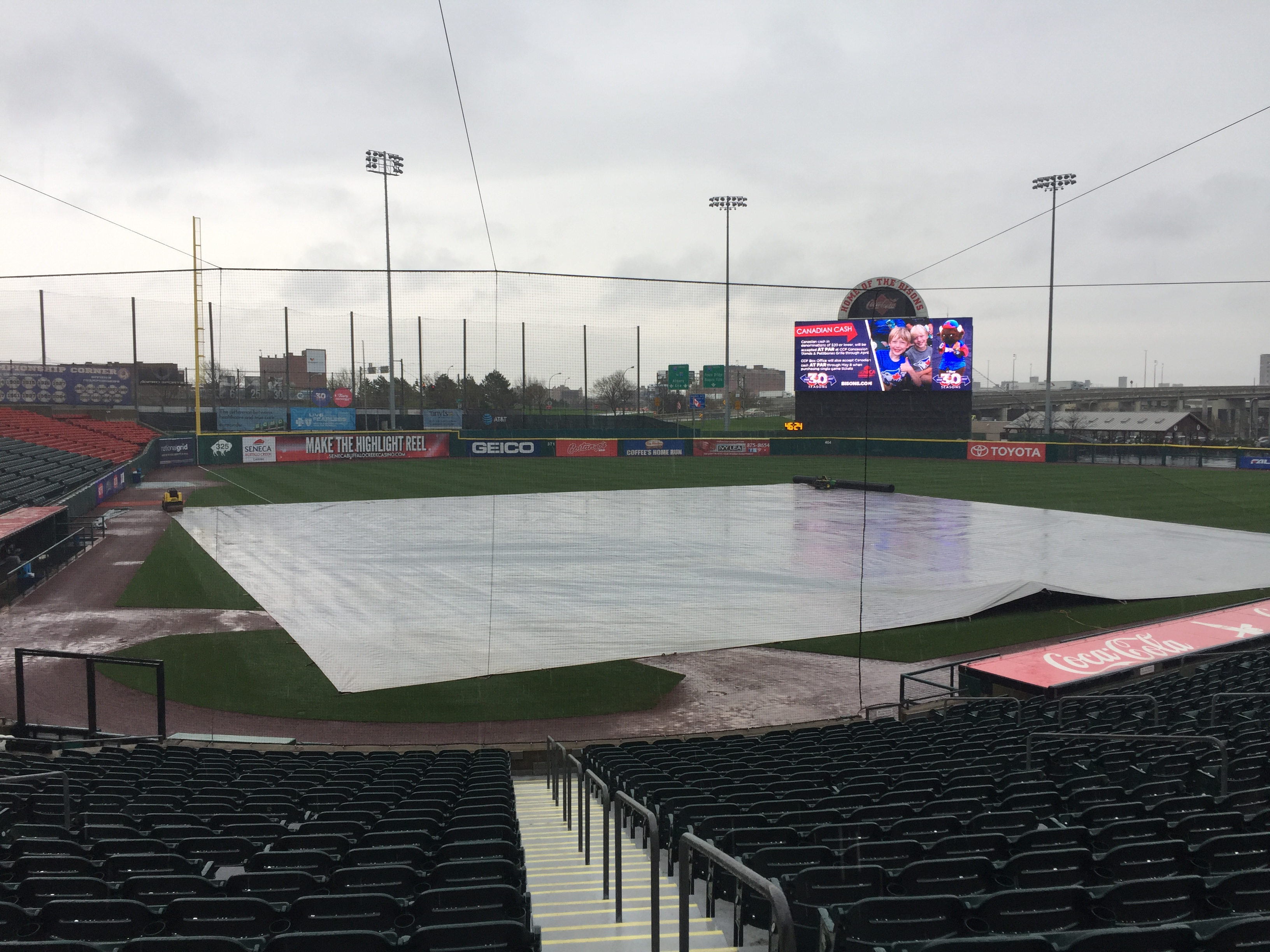 The Bisons had their third rain out of the season.