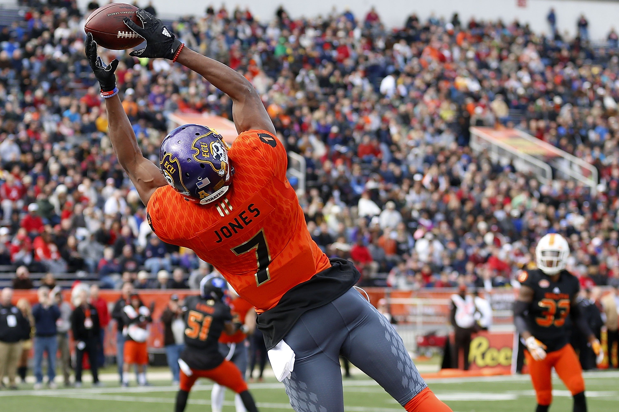 East Carolina wide receiver Zay Jones could be a target for the Buffalo Bills in the second round of the NFL Draft. (Getty Images)