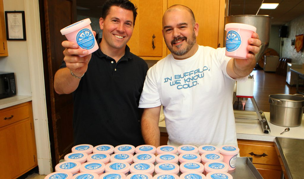 Erik Bernardi, left, and Jason Wulf founded Lake Effect Ice Cream. (News file photo)