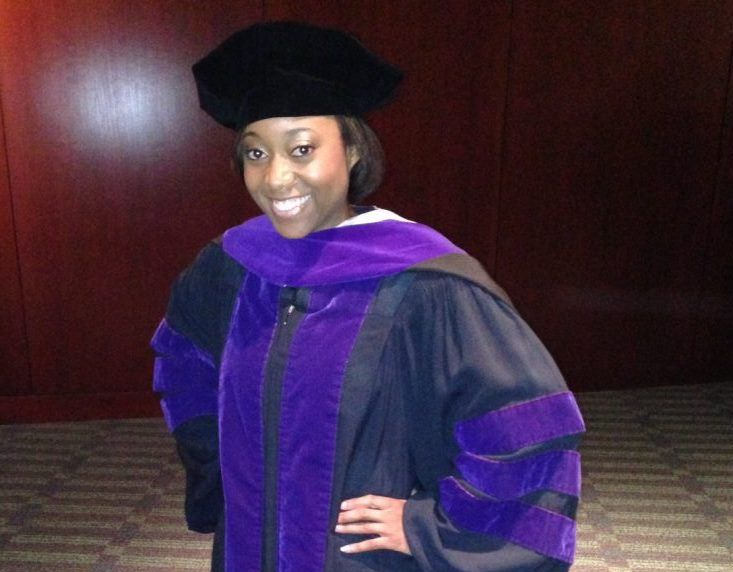 Jessica Smith at her graduation from law school.