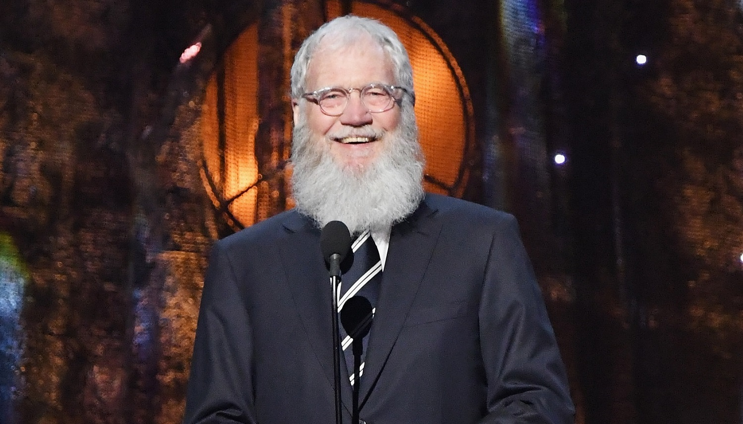Presenter David Letterman speaks onstage at the 32nd Annual Rock & Roll Hall Of Fame Induction Ceremony this month in New York City. (Photo by Mike Coppola/Getty Images)