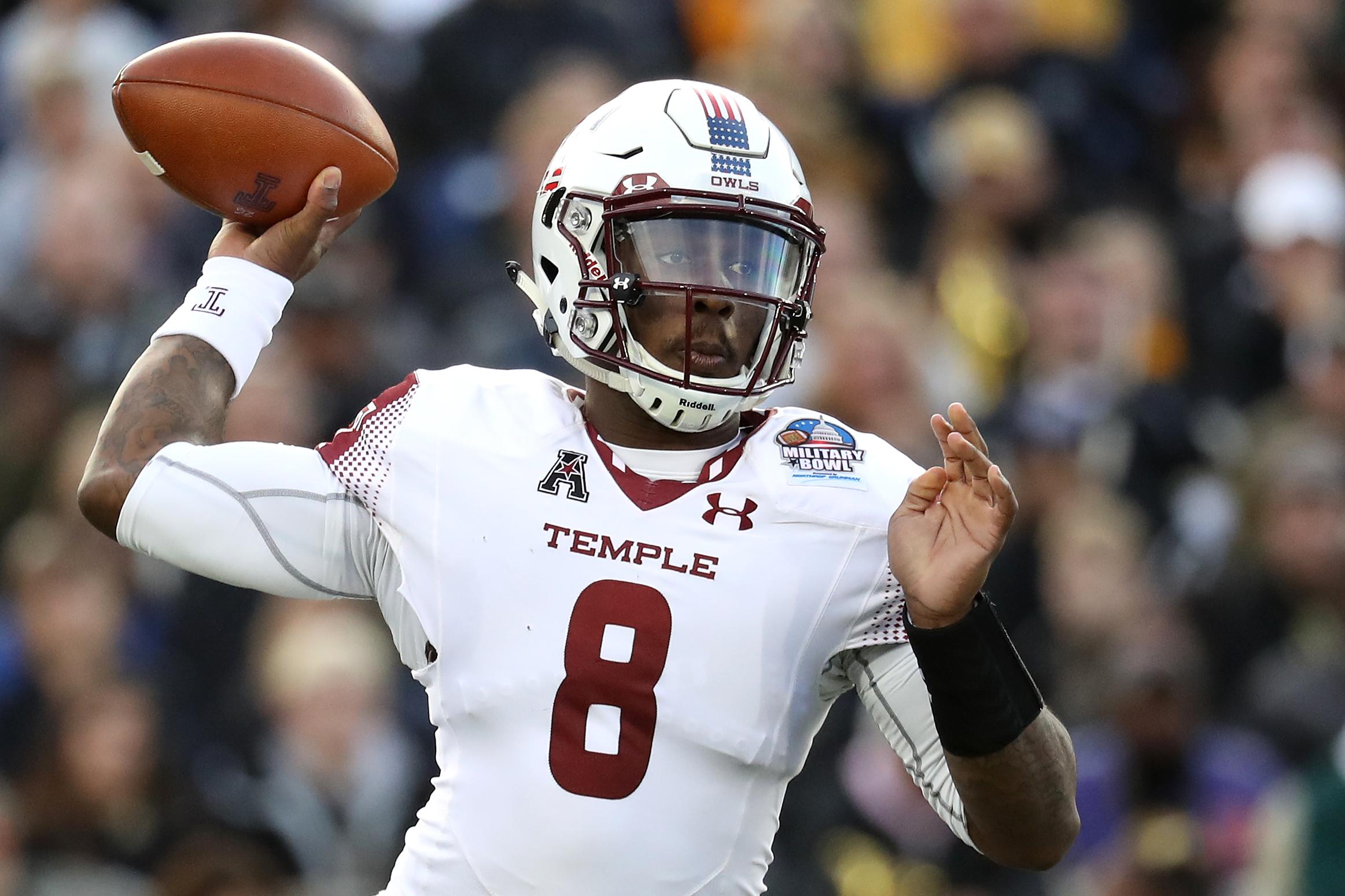Temple quarterback Phillip (P.J.) Walker. (Photo by Matt Hazlett/Getty Images)
