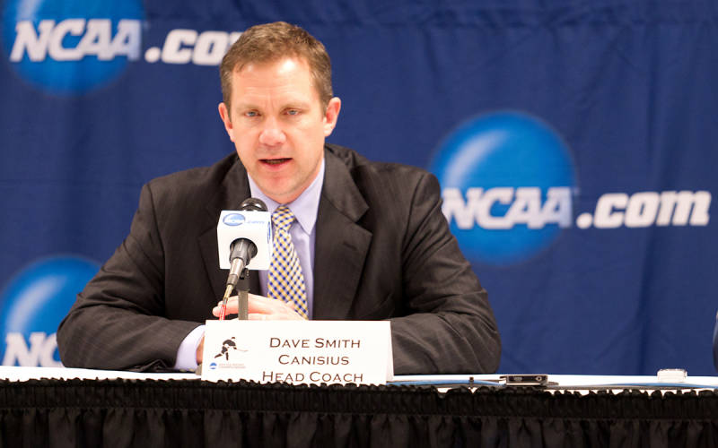 Coach Dave Smith led the Griffs to the NCAA Tournament in 2013. (Canisius Athletic Communications)