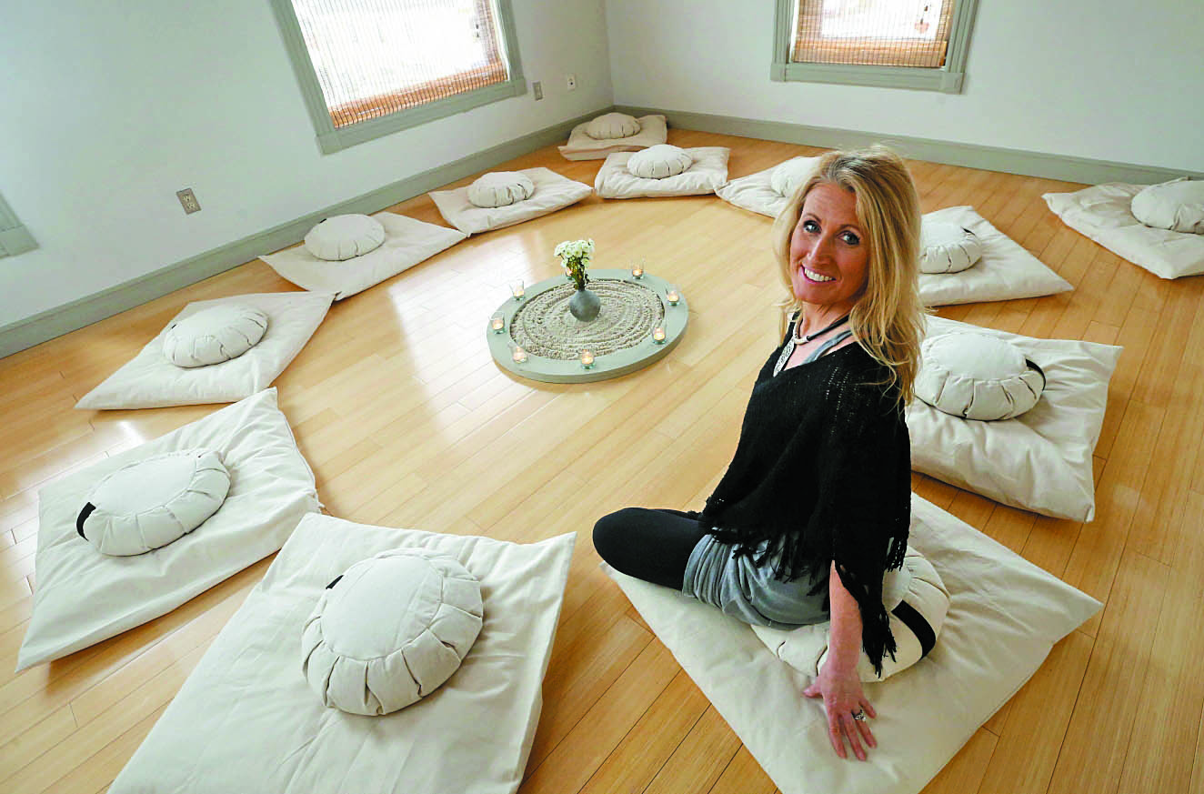 """We're going to have open classes and guided meditation, but this room is open free to the community. … You can just come up here to get away from the stressors of the world."" – Susan Garguiolo, owner of Creative Wellness, the new wellness center in East Aurora. (Photos by Sharon Cantillon/Buffalo News)"