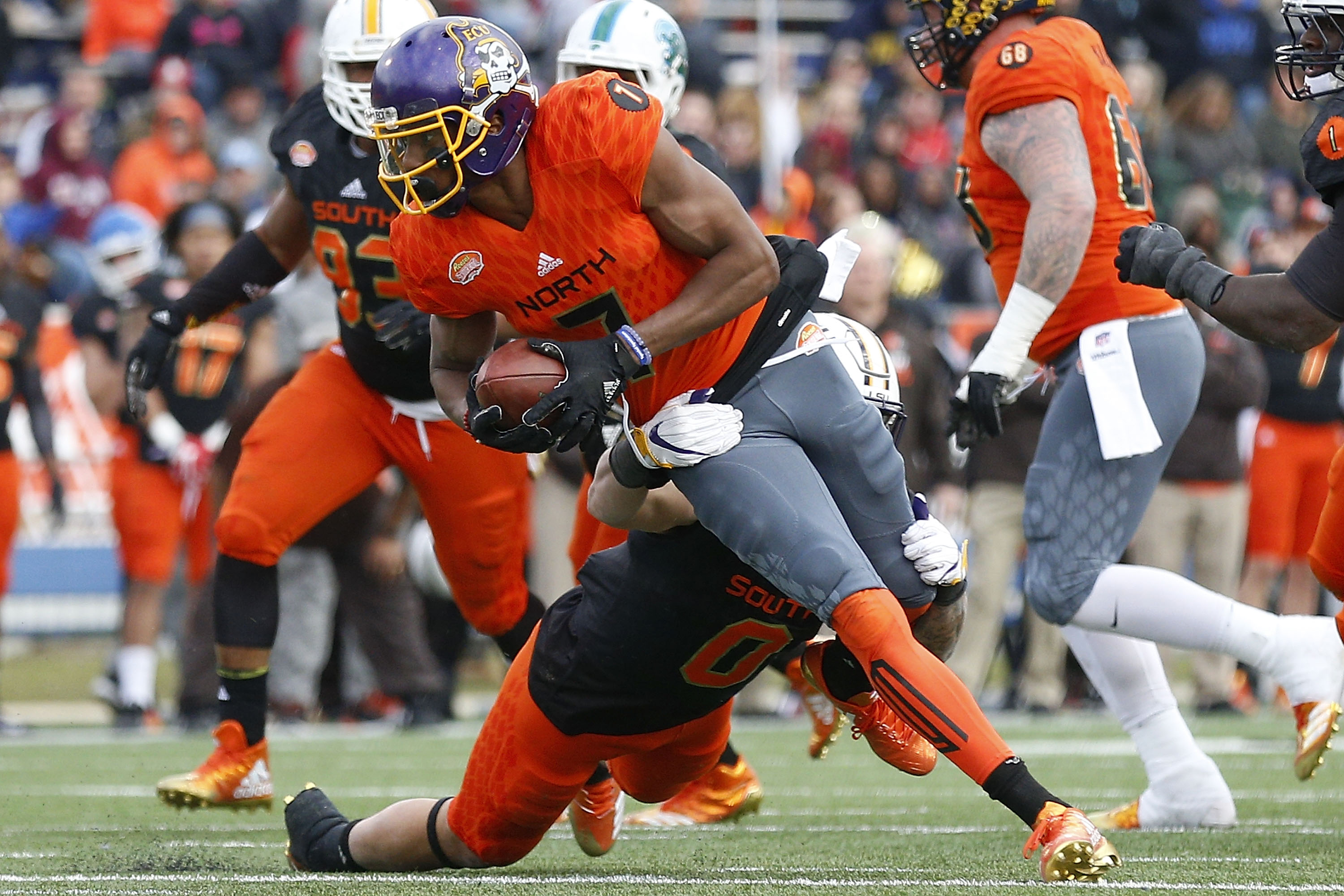 Zay Jones caught an FBS record 399 passes during his time at East Carolina. (Getty Images)