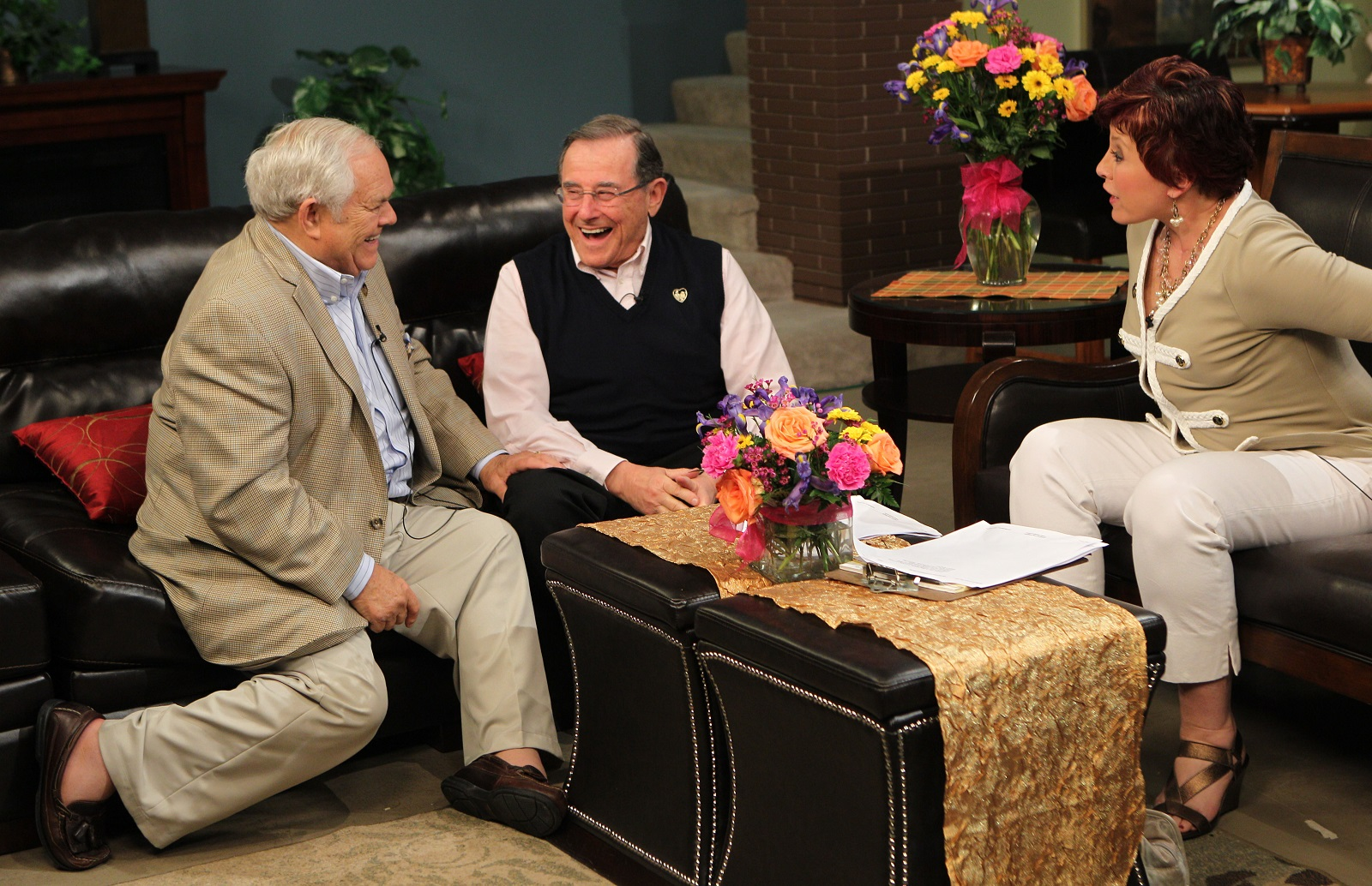 Irv Weinstein, center, joined former GM Phil Beuth, left, on AM Buffalo with Linda Pellegrino, in 2012. The mainstay of Channel 7 for nearly 40 years is going from a 60-minute to 30-minute show. (Photo by Sharon Cantillon / Buffalo News)