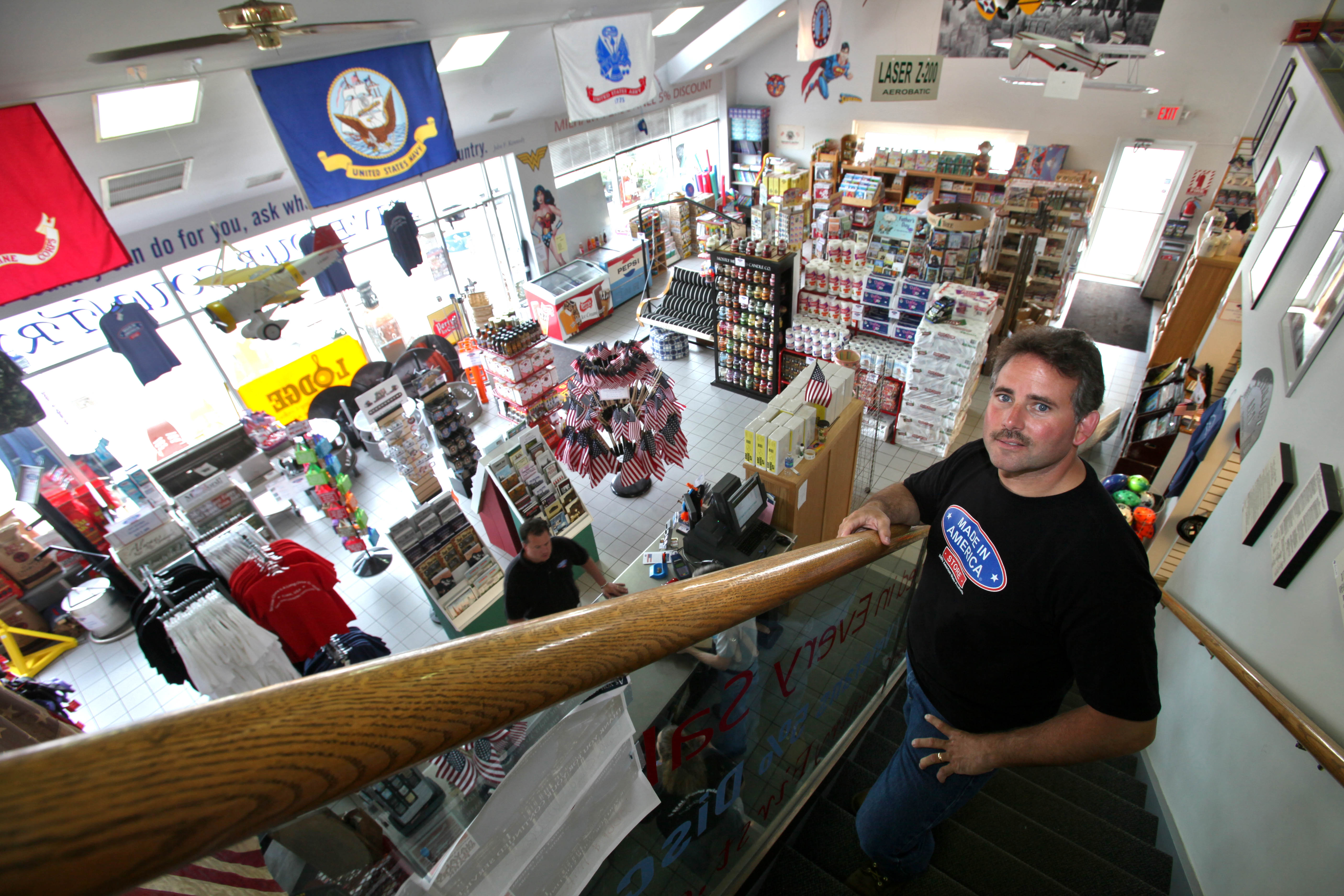 File photo of store owner Mark Andol at the Made in America store in Elma. The Erie County Legislature approved legislation that would require all major county purchases to be Made in America. (Robert Kirkham/The Buffalo News)