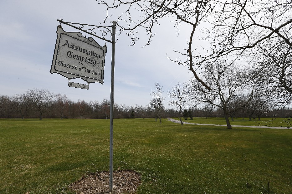 The Western New York Land Conservancy wants to purchase  140 acres of the 157-acre Assumption Cemetery on Whitehaven Road, Grand Island, for a forest preserve. (Mark Mulville/Buffalo News)