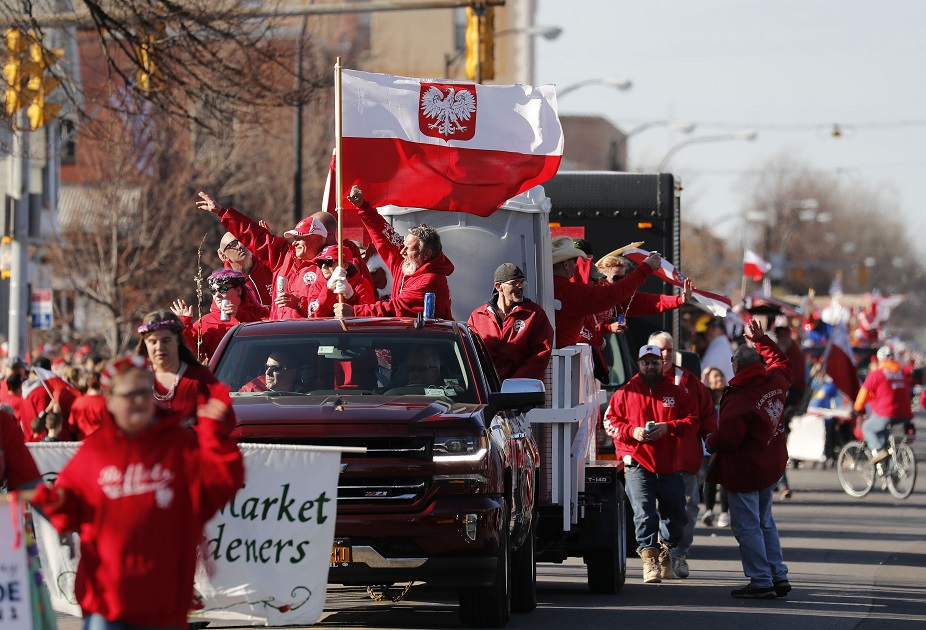 The Dyngus Day parade will have a longer route in 2019. (Mark Mulville/Buffalo News file photo)