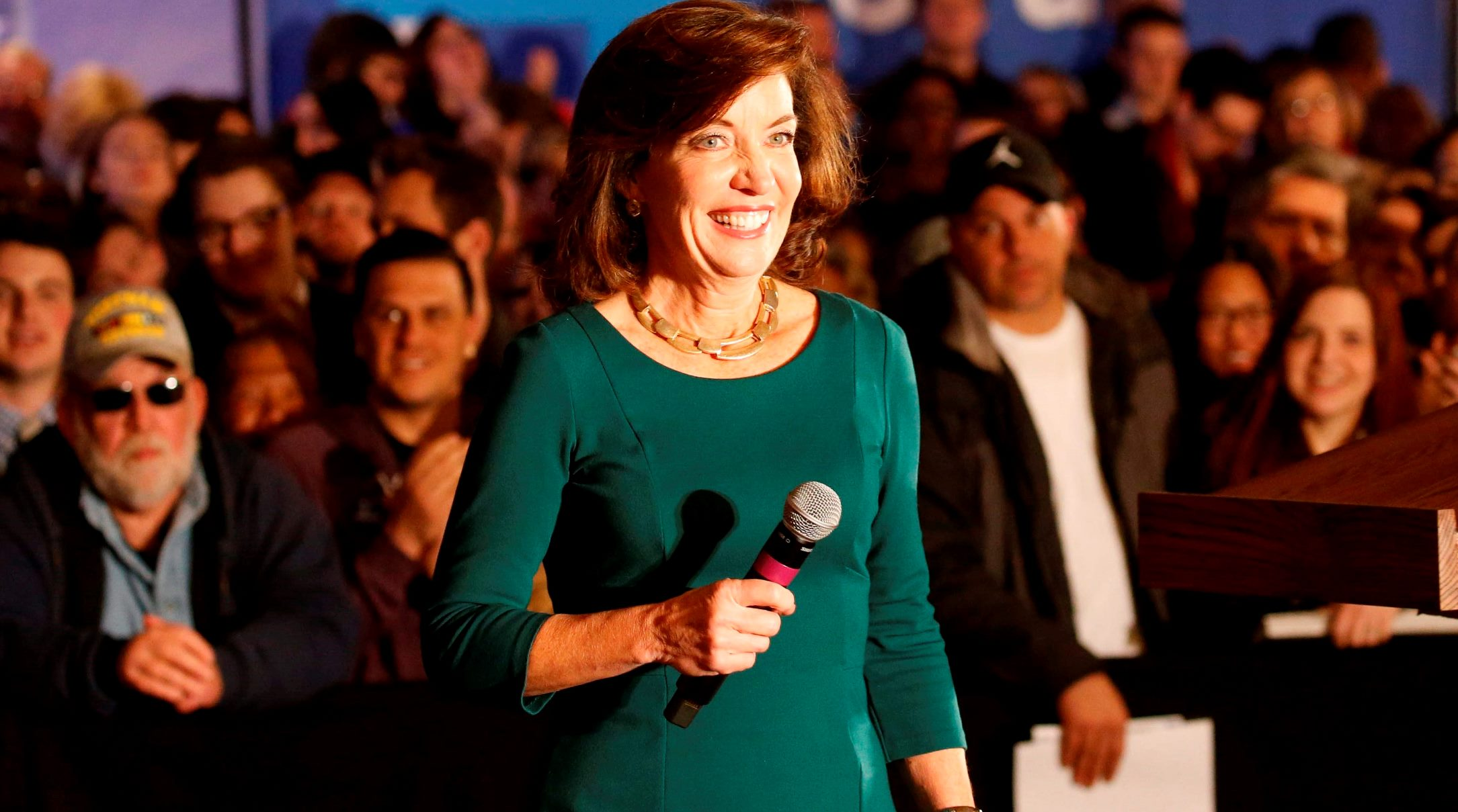 """Kathy Hochul tore into Chris Collins for """"partisan politics"""" for his amendment that would have transferred upstate Medicaid costs to the state. (Derek Gee/News file photo)"""