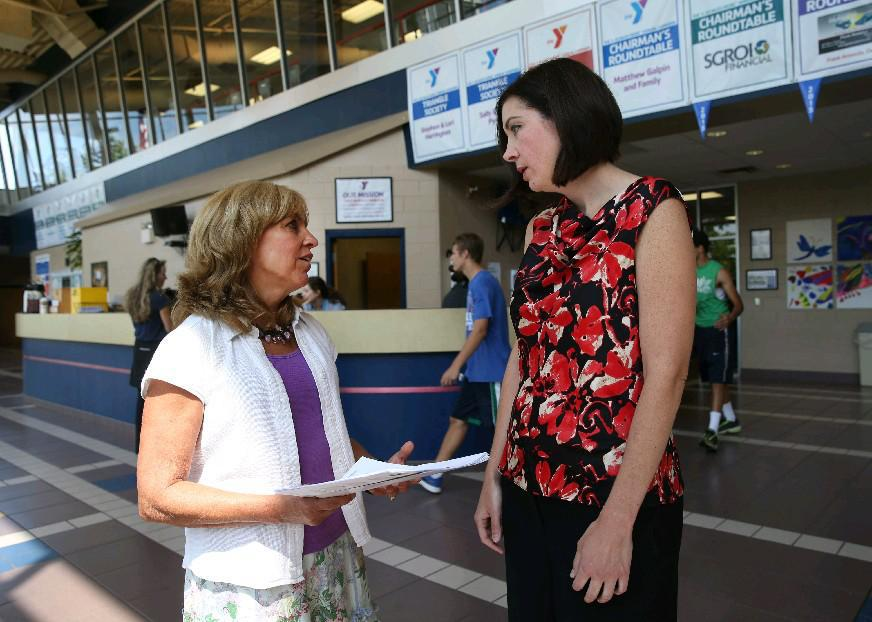"""""""We've seen great results with the Diabetes Prevention Program,' said Kelly Standage, right, association director of membership and wellness programs for the regional YMCA, pictured with program educator Mary Ann Drake. (Sharon Cantillon/Buffalo News file photo)"""