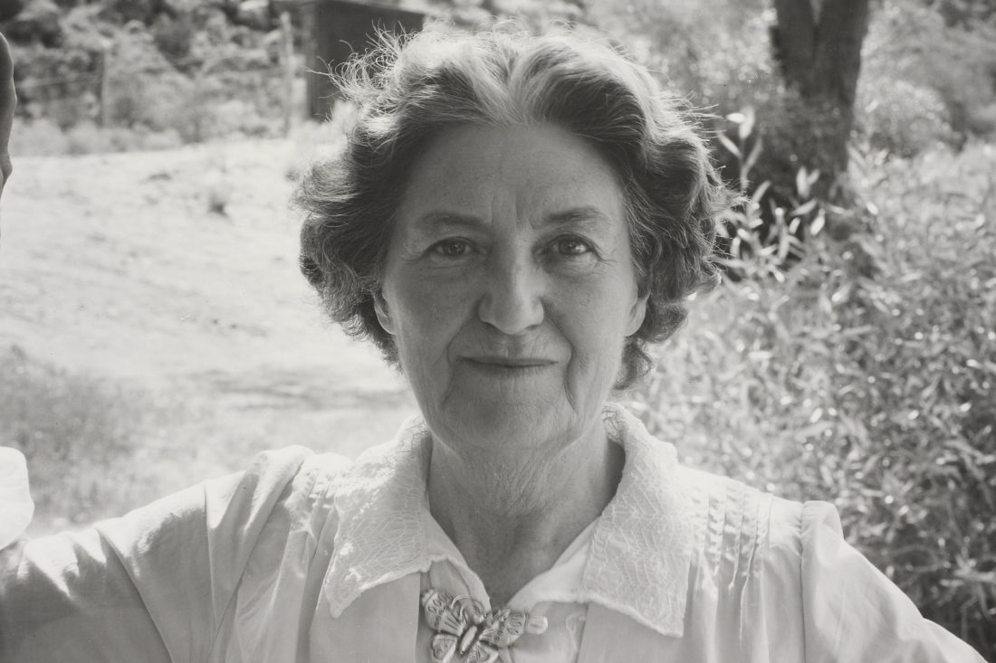 Mabel Dodge Luhan, shown in a 1947 photograph by Laura Gilpin from the collection of the Amon Carter Museum of American Art, is the subject of the film 'Awakening in Taos.'