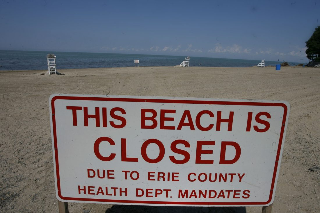 New York's $2.5 billion water infrastructure improvement program should help keep beaches like this open by dealing with sewage overflows. Washington needs to follow suit by maintaining funding for the Great Lakes Restoration Initiative.