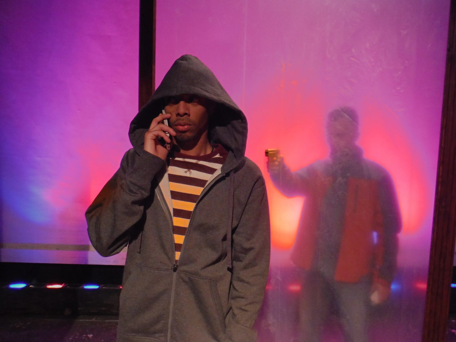 Brian Brown, left, and Rick Lattimer star in the Subversive Theatre Collective's production of 'The Trial of Trayvon Martin.'
