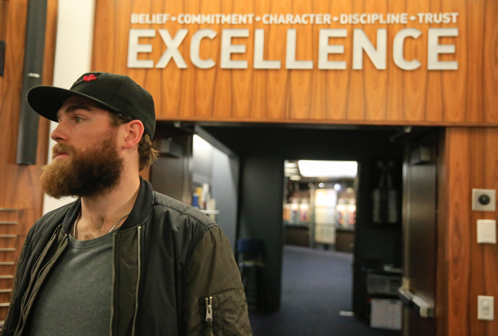 Ryan O'Reilly is the Sabres' ambassador for Hockey Is For Everyone month. (Harry Scull Jr./Buffalo News)