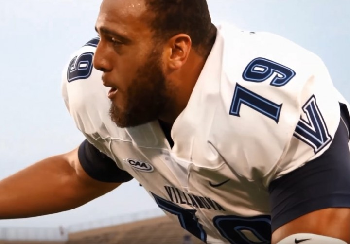 Villanova offensive tackle Brad Seaton is expected to be a mid-round draft pick.