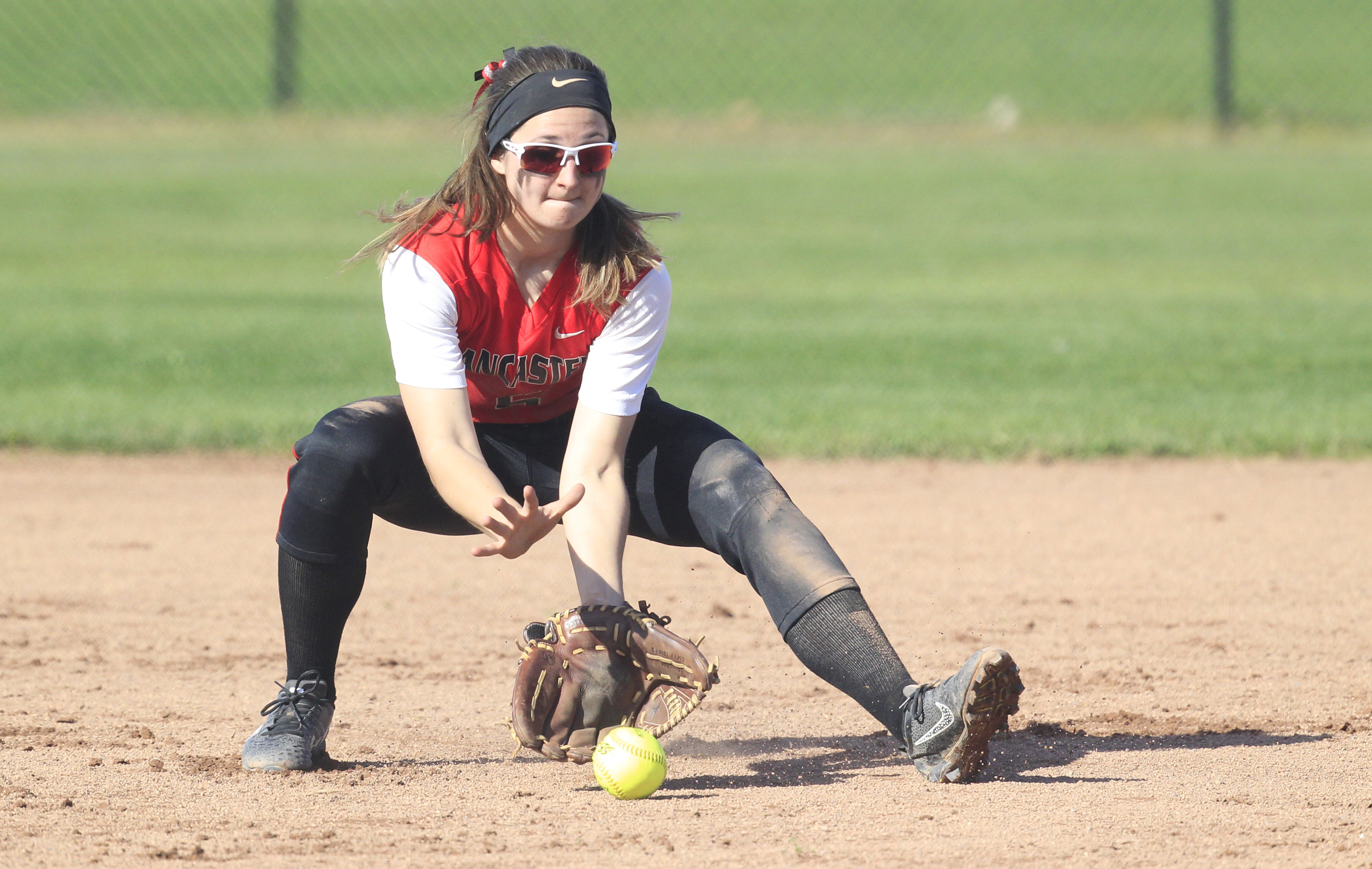 Lancaster shortstop Kara Paradowski is among the many All-Western New York returnees and earned 2016 Prep Talk Player of the Year honors in softball. (Harry Scull Jr./Buffalo News)