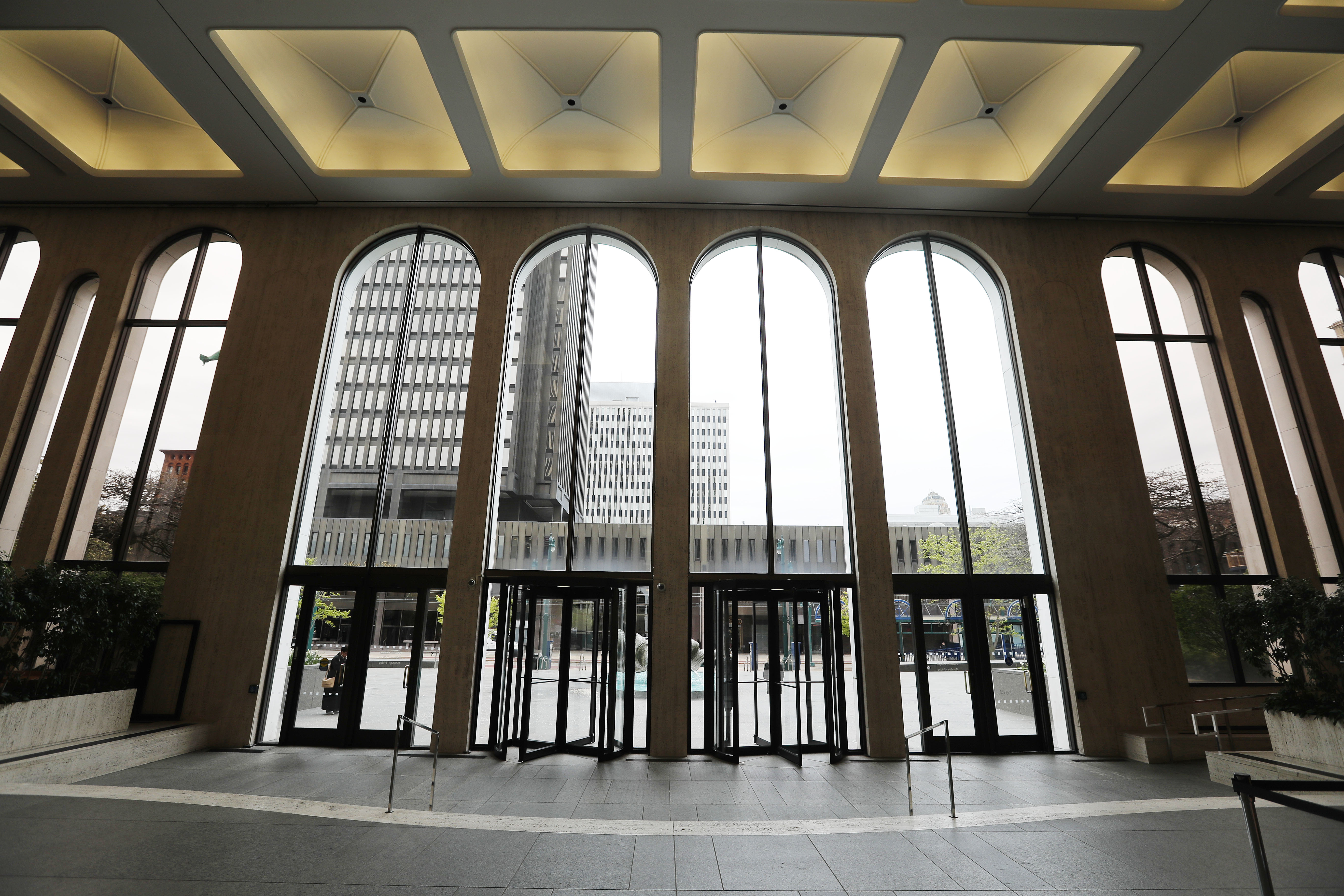 The main lobby of the M&T Bank headquarters on Main Street in Buffalo.             (Mark Mulville/Buffalo News)