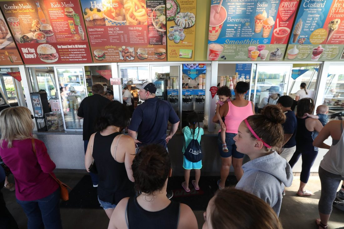 Stand in line at Anderson's Frozen Custard this summer in Buffalo, NY