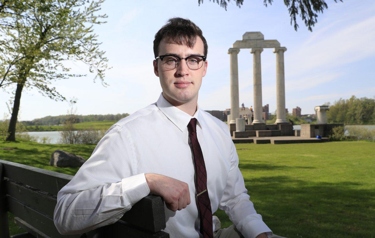 Dwight Eagan, a  University at Buffalo student, serves on the Orchard Park School Board. (Harry Scull Jr. / Buffalo News)