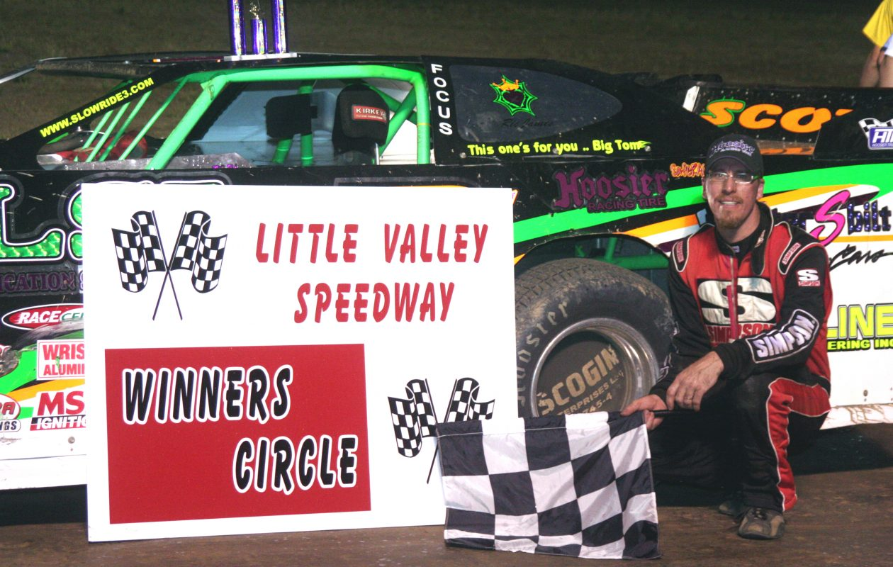David Scott in Victory Lane at Little Valley Speedway in 2006, back when the track was prospering. (Buffalo News file photo)