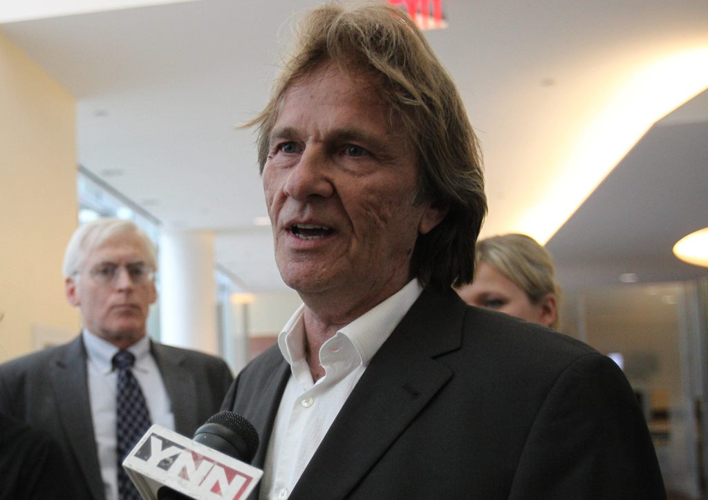 James Mazzariello Jr., tow truck company owner, speaks with the media after his arrignment in federal court in 2013. (News file photo)