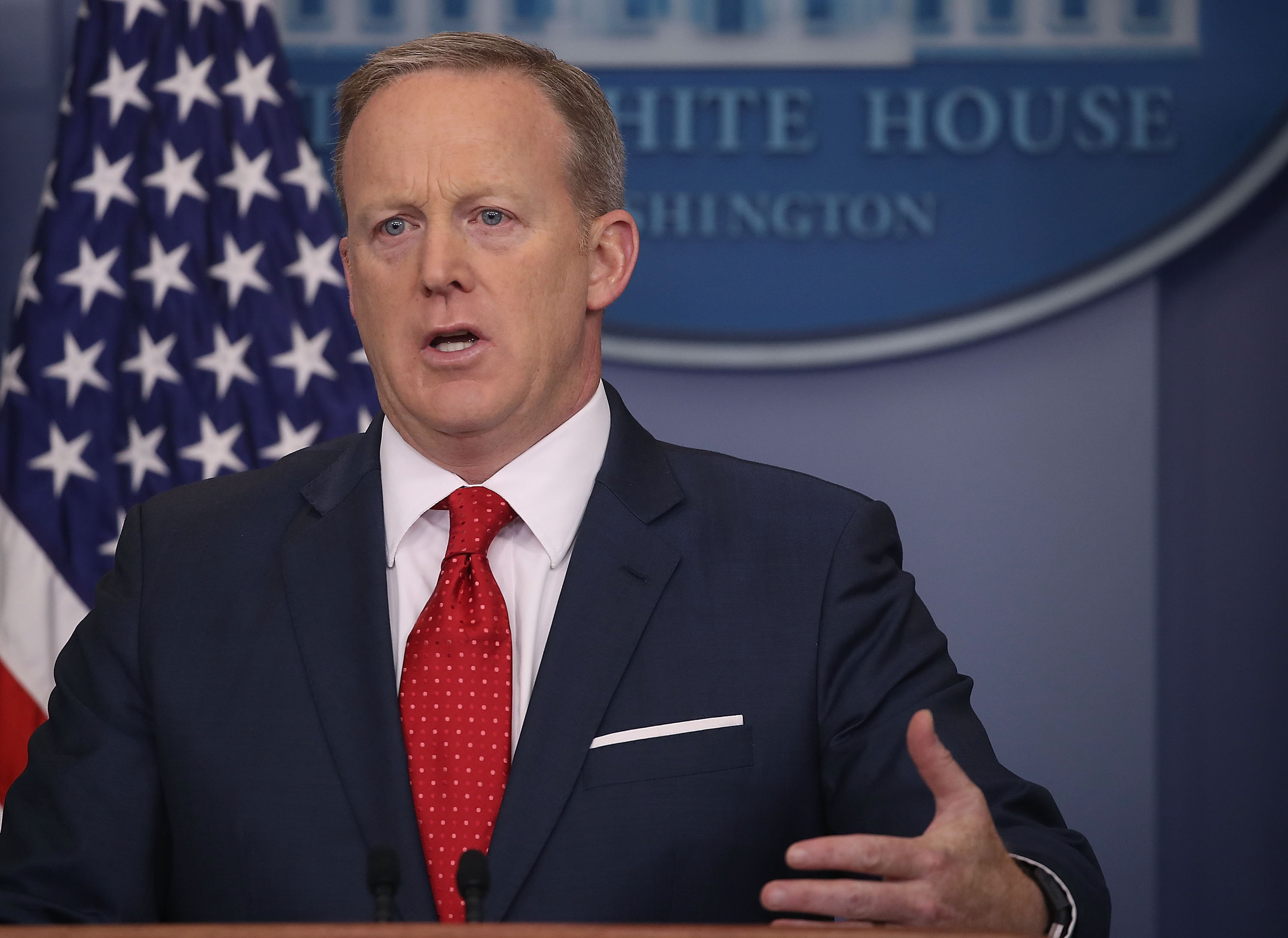 Sean Spicer has resigned as White House press secretary. (Getty Images)