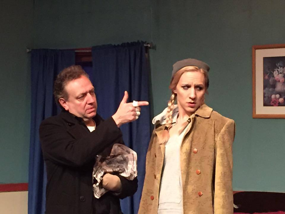 Thomas LaChiusa, left, and Candice Kogut star in 'A Behanding in Spokane' at American Repertory Theater of WNY.