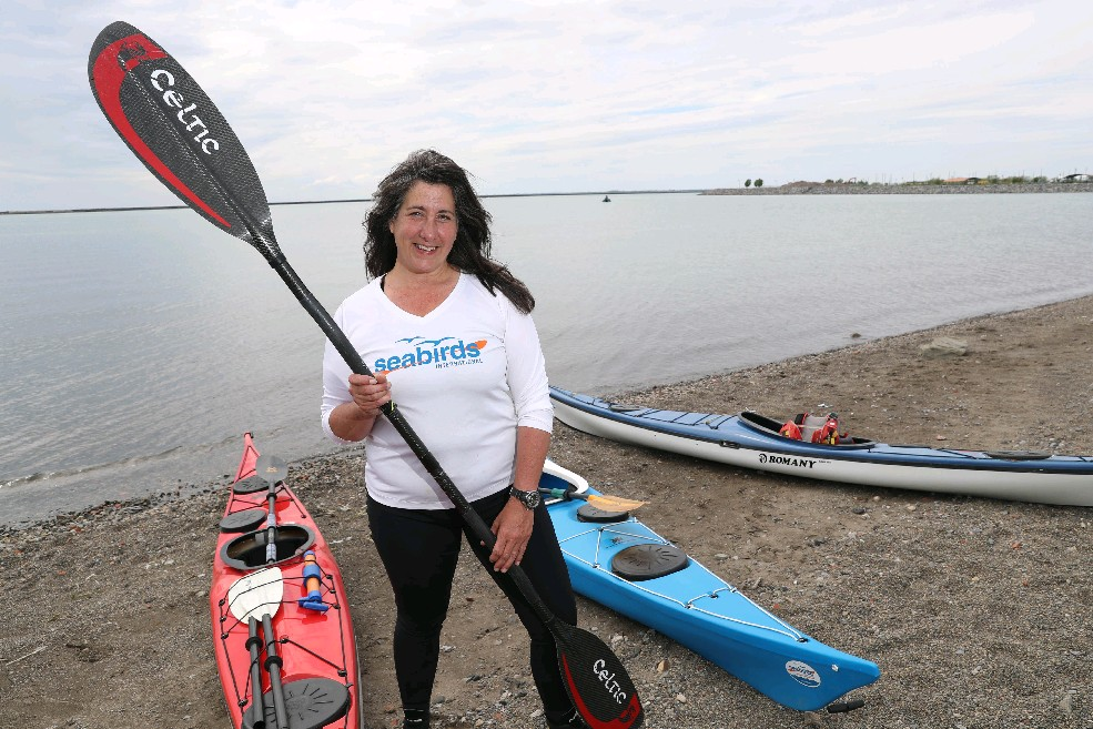 """We all should be seen as waterway users, as one community, and work together. Kayakers should understand the rules of the road."" – Andrea Vaillancourt-Alder, owner of Seabirds International. (Sharon Cantillon/Buffalo News)"