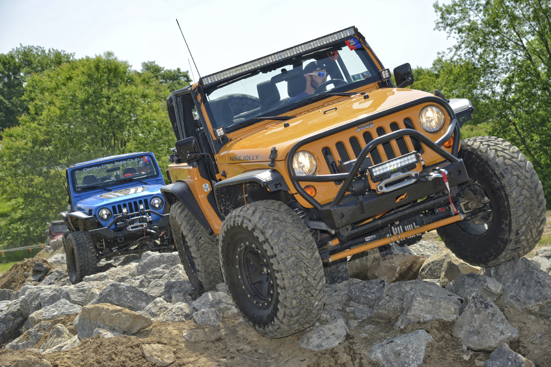 The new stock-friendly Jeeps On The Rocks trail ride. (Photo credit: Leon Winkowski.)