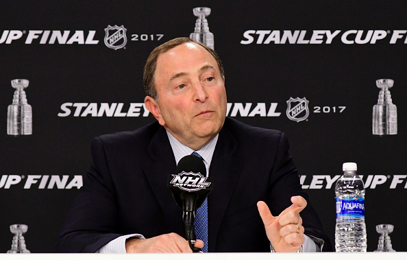 Gary Bettman meets the media Monday in Pittsburgh (Getty Images).