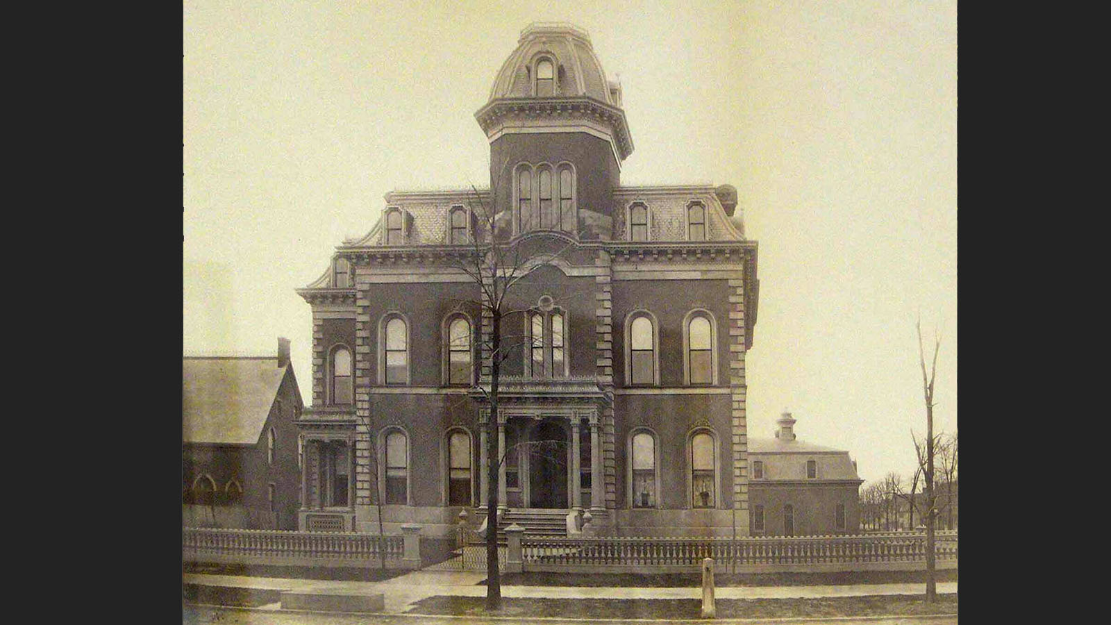 It is long rumored the Blocher Mansion played host to a forbidden love story between a successful businessman's son and his family's maid during the 1880's. (Photo courtesy of Buffalo as an Architectural Museum.)