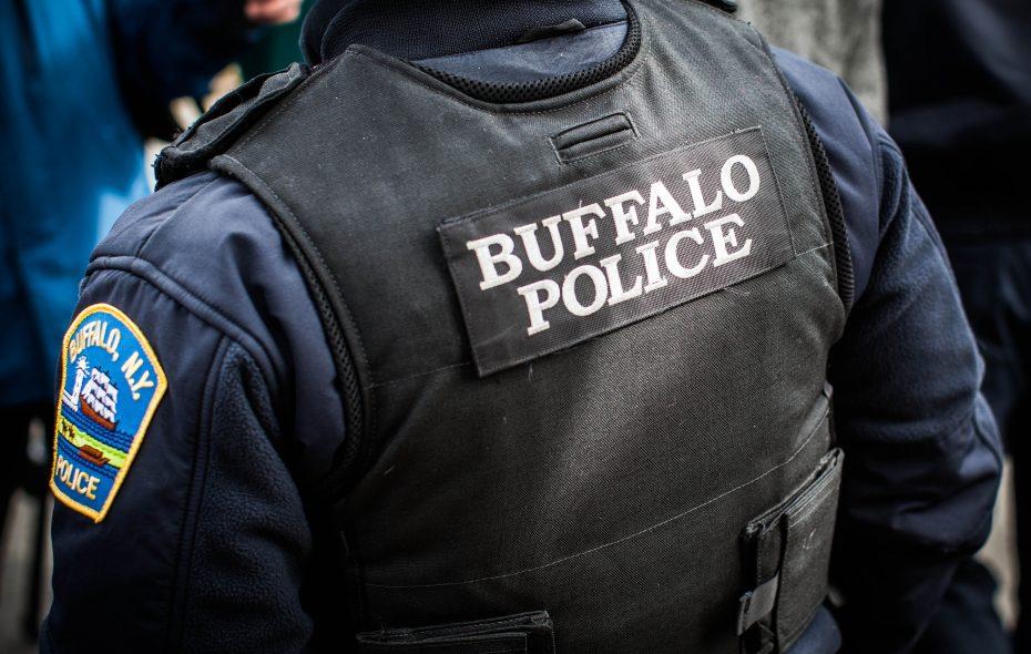 Buffalo Police Officer Moe Badger on Eller Avenue, Thursday, March 9, 2017.  (Derek Gee/Buffalo News)